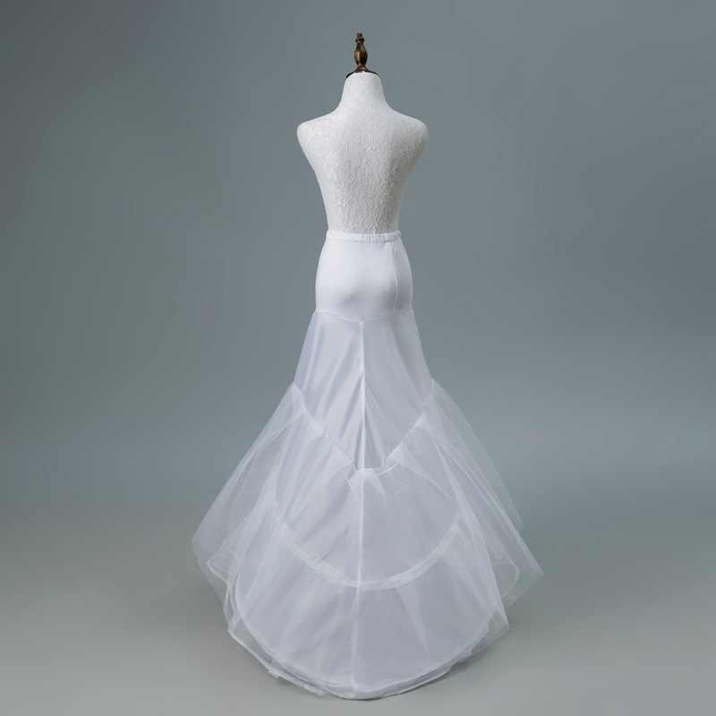 JaneVini 2018 לבן טול תחתוניות המולת Petticots הכלה בתולת ים קרינולינה נטו תחתונית חתונה אביזרי Jupon 3 Cerceaux