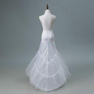 Image 4 - JaneVini 2018 White Tulle Underskirt Bustle Petticots Bride Mermaid Crinoline Net Petticoat Wedding Accessories Jupon 3 Cerceaux