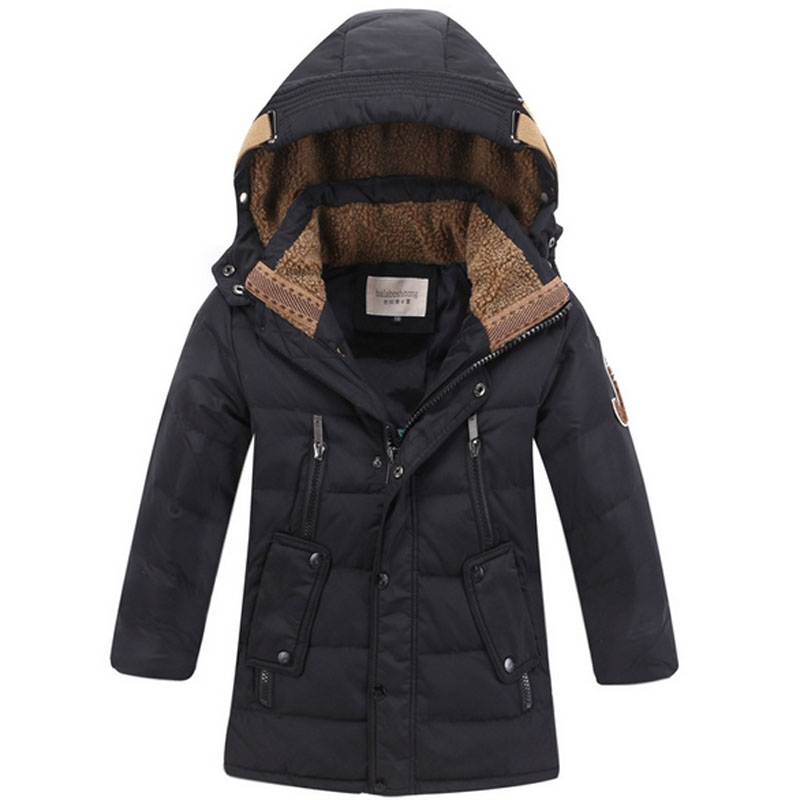 fcff42d0d US $41.99 25% OFF|Brand Boys Winter Down Jackets Kids Clothes Children Warm  Coat Jacket Toddler Boy Snowsuits Hooded Outerwear Thicken Clothing-in ...