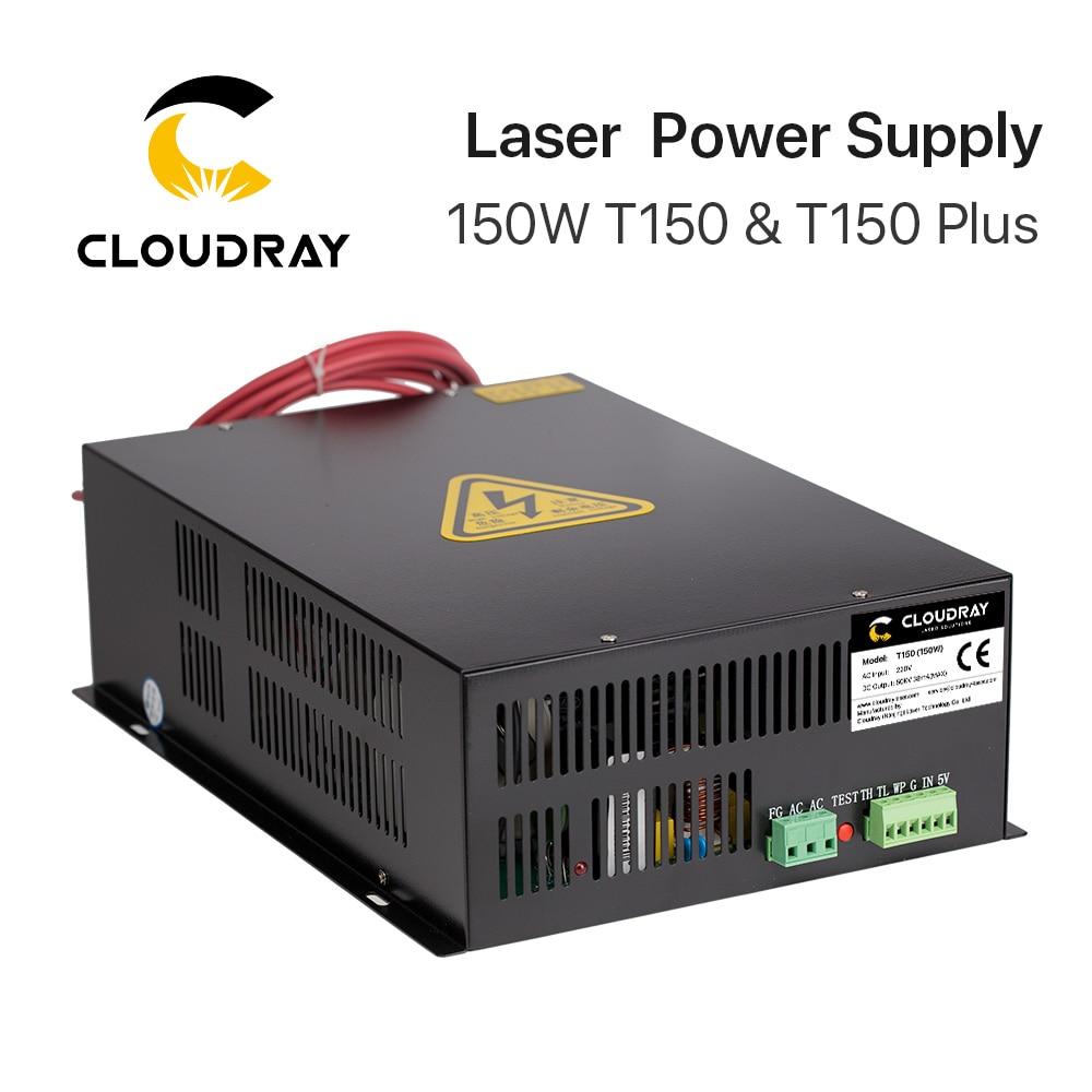 منبع تغذیه با لیزر Cloudray 150W CO2 برای دستگاه برش حکاکی با لیزر CO2 سری HY-T150 سری T / W Plus با ضمانت طولانی