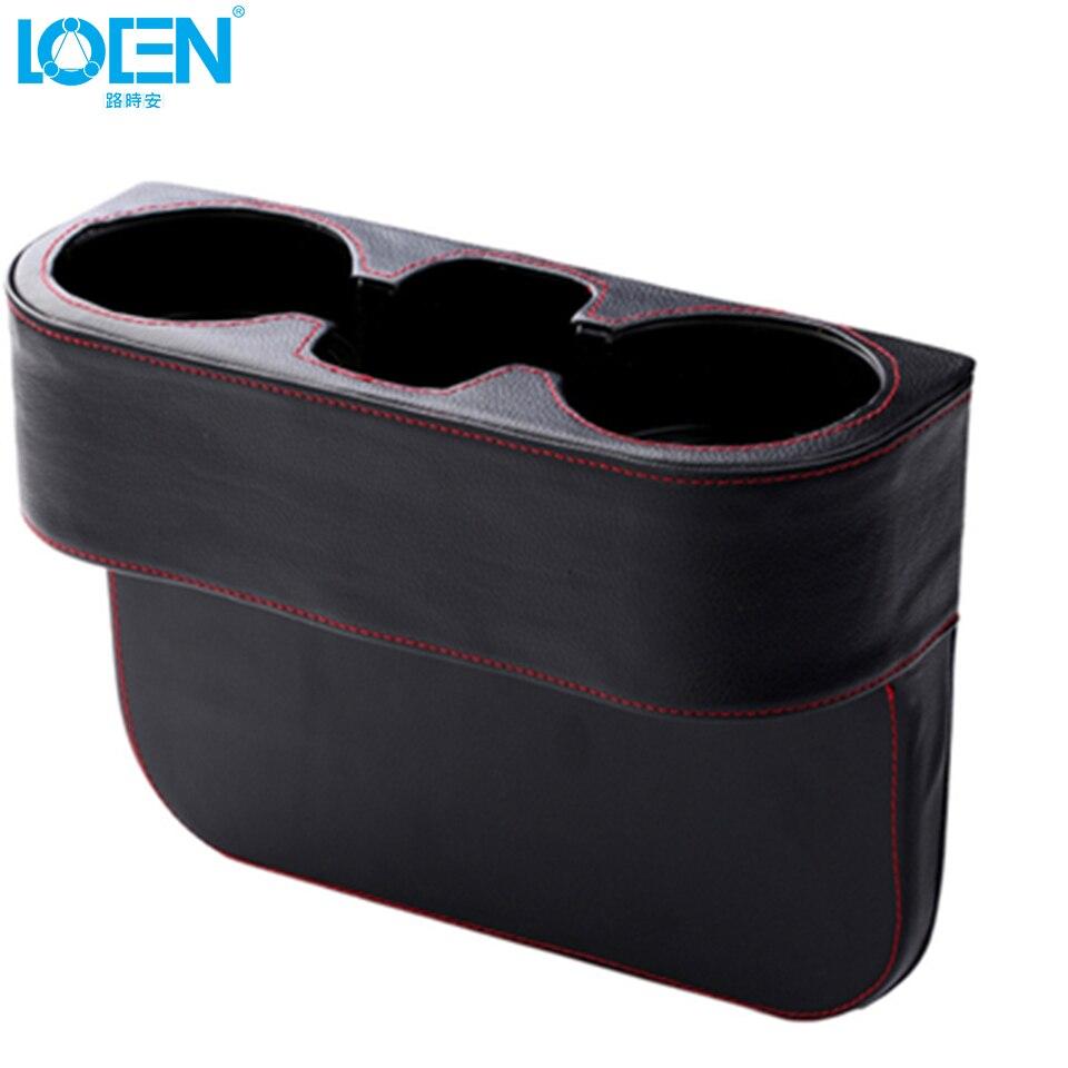 LOEN 상자 PU 가죽 휴대용 시좌 간격 컵 시가렛에 대한 - 자동차 인테리어 용 액세서리 - 사진 3