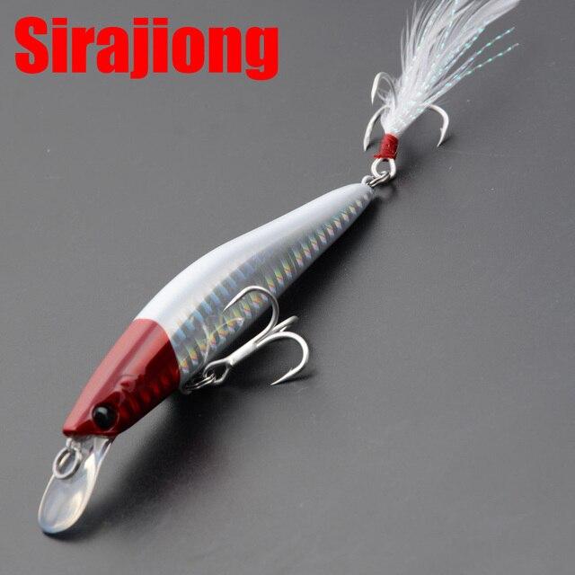 Sirajiong Jerkbait Wobbler 115mm 14g Sinking Angeln Locken Minnow Crankbait Japan BKK Haken Süßwasser Angeln Bewältigen Harten köder
