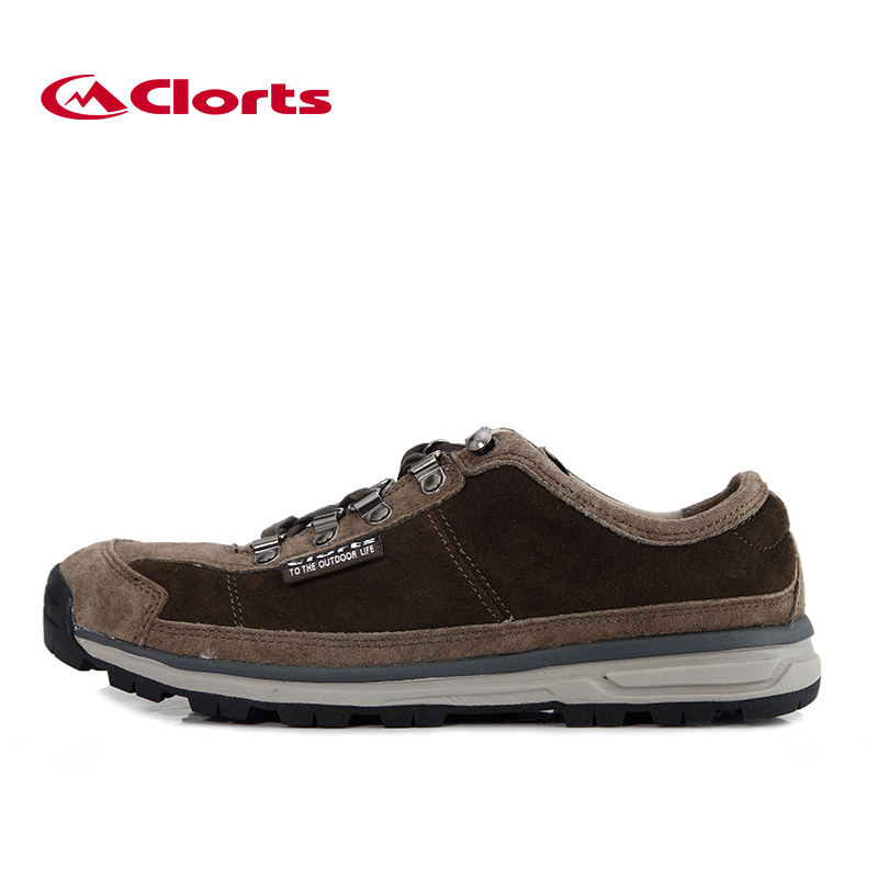 ФОТО Clorts Low-Top Walking Shoes Light Men Shoes Suede Leather Outdoor Shoes 3G020A/D