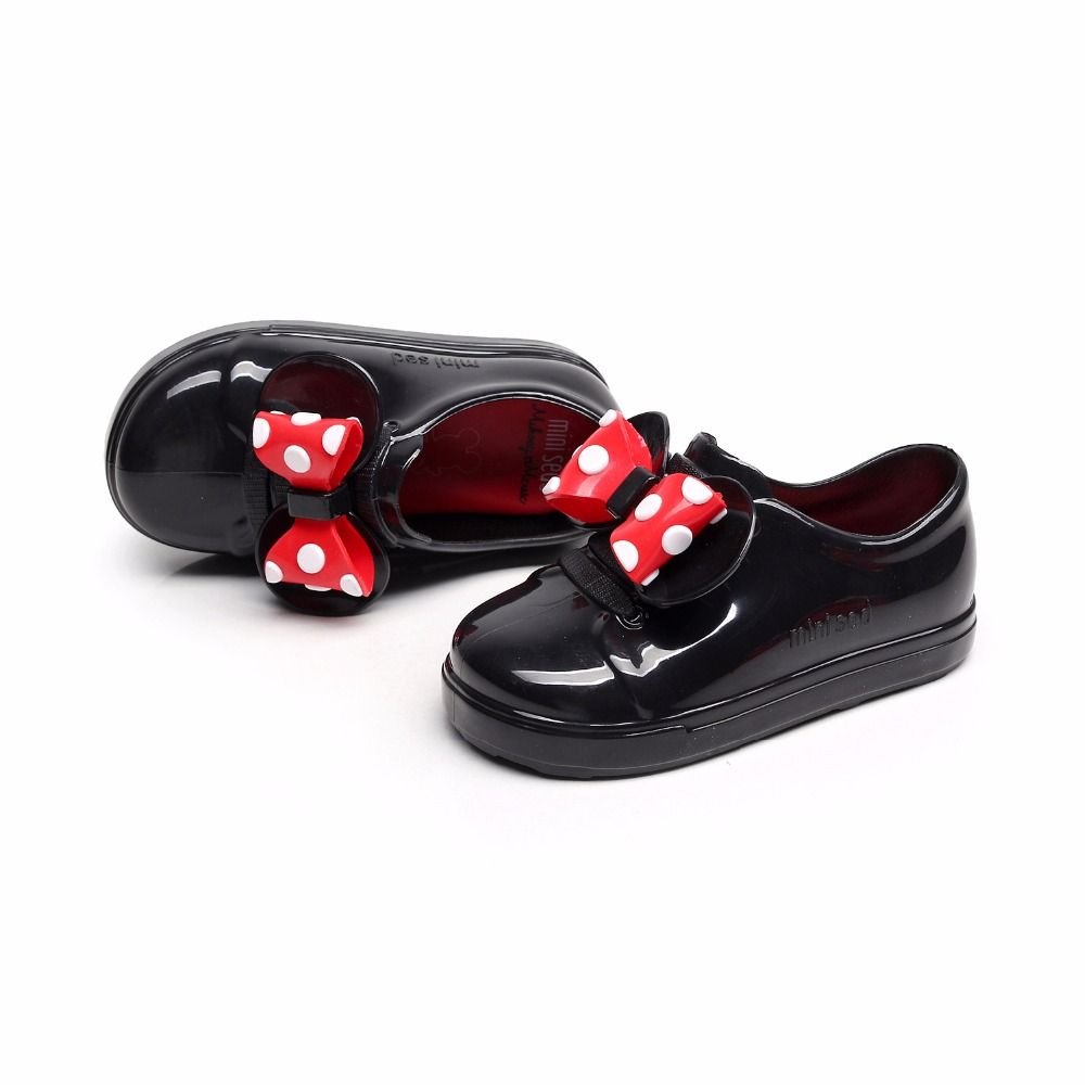 Mini Melissa Sports Tennis Shoes 2018 New Winter Flat Slip-on Kids Sandals Sneakers Breathable Shoes Love System Girl Jelly shoe