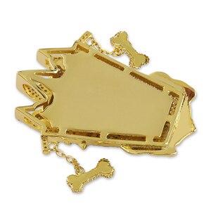 Image 3 - Topgrillz Mới Đá Ra Uka Mặt Nạ Nguyên Mặt Dây Chuyền Vòng Cổ Nam Micro Trải Nhựa Hip Hop Vàng Bạc Màu Bling Quyến Rũ dây Chuyền Trang Sức
