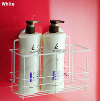super suction cup 304 stainless steel Bathroom caddy deepen shower basket kitchen rack storage basket basket shelf white