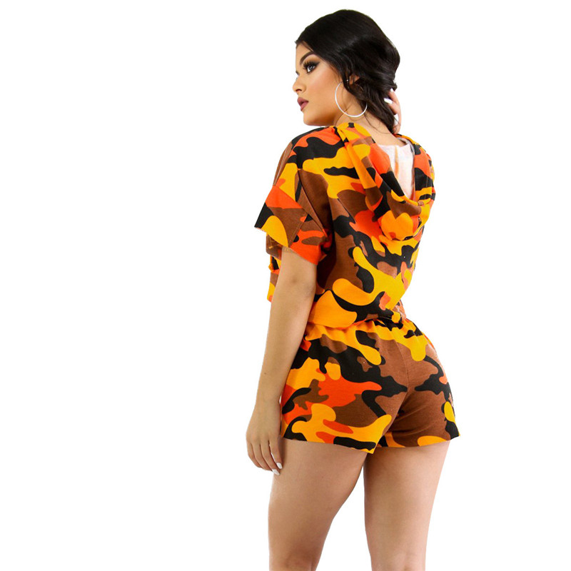 2018 Summer Outfits Casual Short Sets For Women Fashion Tracksuit Ladies Sweat Suits Digital Print Two Piece Sets