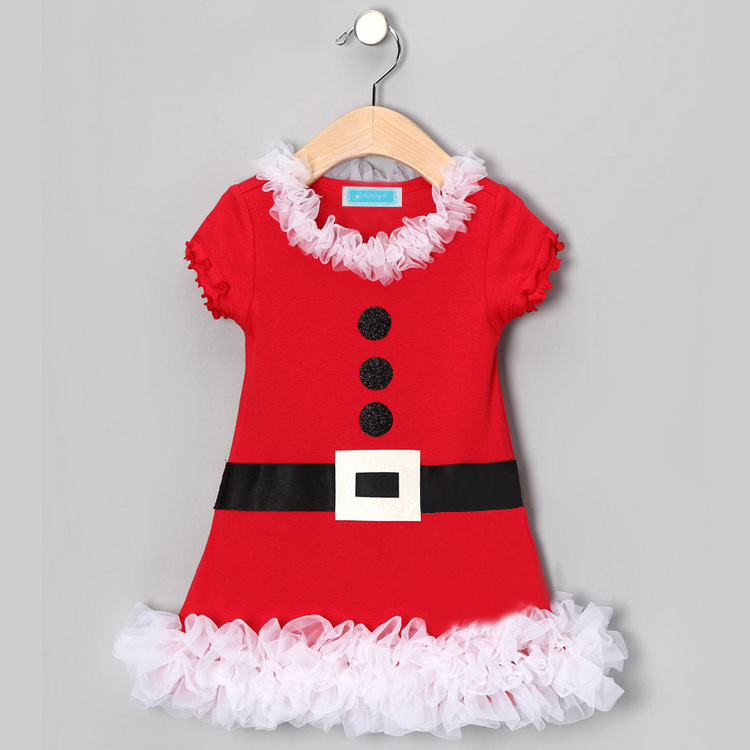 2017 new Baby Girl Christmas Clothing Set Outfit For Children Girls lace tutu dress Fashion Clothes Christmas Clothing Sets hot sale new summer children clothing set baby girl set o neck sets baby tutu skirt set 2 8 years toddler girls clothes