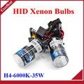 H4 HID Bi xenon H4 bixenon kit OCULTADO H4 Hi lo faros lámpara de las bombillas 4300 K 6000 K 5000 K 8000 K 10000 K 12000 K 35 W 1 par envío gratis