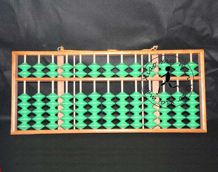 13 colonne antidérapant bois boulier professionnel chinois soroban outil en mathématiques éducation pour enseignant, banque, comptable X059