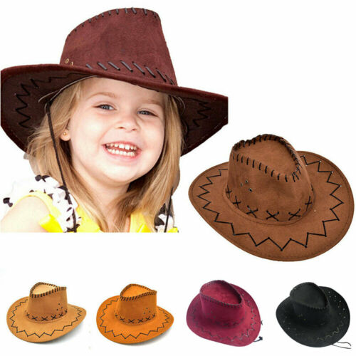 Cowboy Hat Suede Look Wild West Cowgirl Unisex Camping Western Hat New Fashion