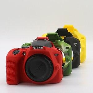 Image 2 - لينة سيليكون DSLR كاميرا حالة غطاء حقيبة لنيكون Z7 Z6 D780 D750 D850 D3300 D3400 D3500 D5300 D5500 D5600 D7100 D7200 D7500