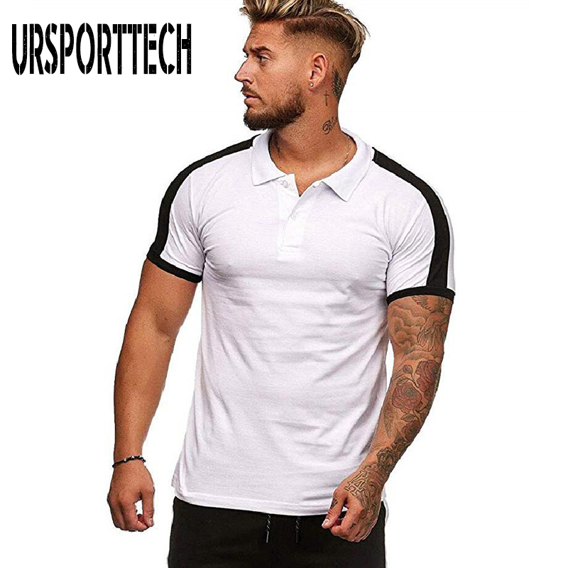 URSPORTTECH Brand <font><b>Polo</b></font> <font><b>Shirt</b></font> <font><b>Men</b></font> 2019 New Summer Fashion Short Sleeve <font><b>Big</b></font> <font><b>Size</b></font> <font><b>Polo</b></font> <font><b>Shirt</b></font> <font><b>Men</b></font> Casual Slim High Quantity <font><b>Polo</b></font> <font><b>Men</b></font> image