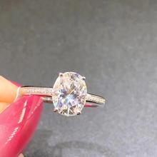 цены на Gorgeous 2 Carat ct D Color  vvs Lab Grown Oval Moissanite Diamond Ring Solitaire Engagement Wedding Ring 14K 585 Yellow Gold в интернет-магазинах