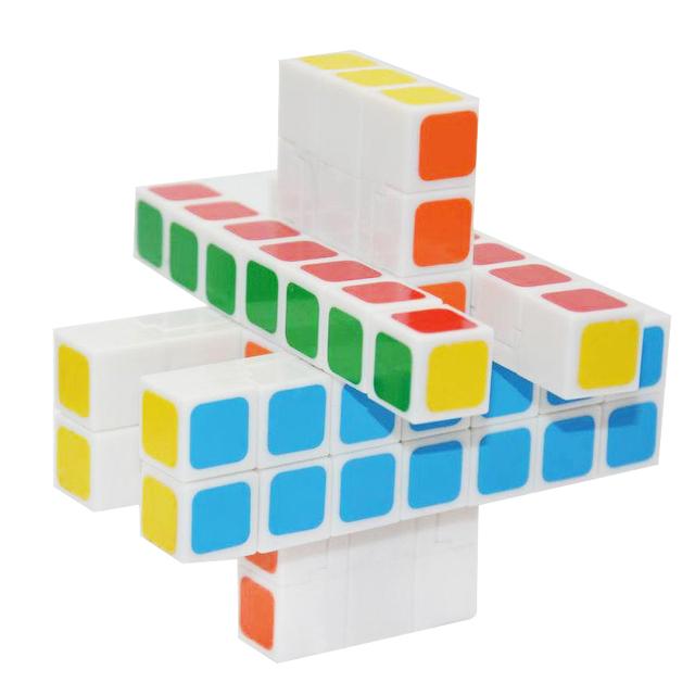 WitEden 3x3x7 Cuboide CubeSpeed Magia Puzzle Cubo Mágico Niño Adultos Rompecabezas Juguetes Educativos para niños