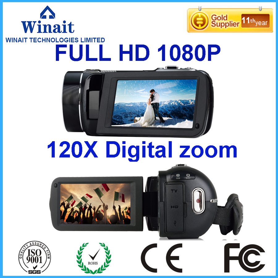 2017 Newest 1080P Super Zoom Digital Video CameraProfessional Camcorder Mini Camera Max 24MP Best DV 3''0 Touch Screen Free Ship