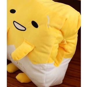 Image 4 - Kawaii ogrzewacz dłoni Gudetama leniwy jajko pluszowa poduszka koc obsadzone jajko Jun żółtko brat zabawka lalka śliczna miękka poduszka