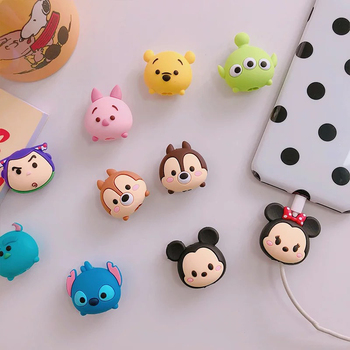 for iPhone XS MAX 8 6 7 Plus 5 5S X XR 10 USB Cable Animal Pig Bites USB Charger Data Cable Cord Protector Cable Cartoon Minions winnie the pooh iphone case