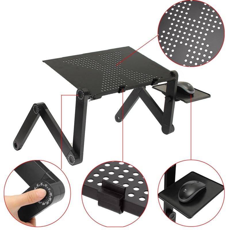 Pliable ordinateur portable plateau de bureau PC Table Stand ordinateur portable Table bureau ergonomique Lapdesk Stand avec tapis de souris livraison directe