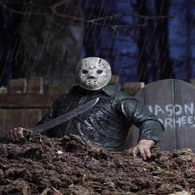 NECA Originele Friday The 13th PartV Part5 EEN Nieuw Begin Jason Voorhees Action Figure Inbare Model Speelgoed