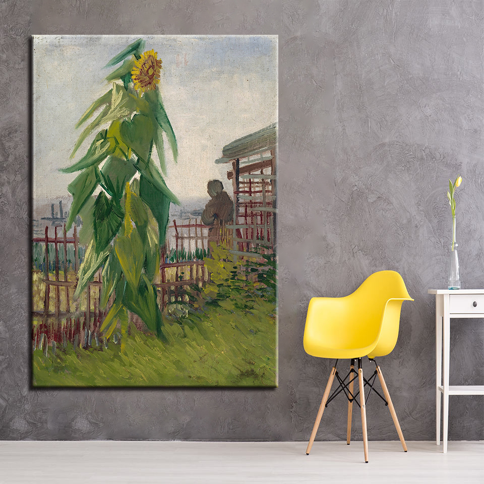 HD Print Wall Art Canvas Pictures Framework 1 Panel Vegetable Garden Sunflower Painting Impressionism Abstract Poster Home Decor