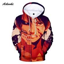 Aikooki nuevo ataque moda en Titán 3D impreso hoodie Streetwear clásico  Anime Hoodies hombres mujeres sudadera Cartoon unisex ab. 836d4fb3793