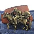 Knight cavalier estilo hebilla PU correa de cuero hombre jinete hebilla moda cinturones envío libre