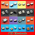 160pcs/lot 16 Models Micro USB female connector USB 2.0 jack USB female socket SMT/DIP 5pin Mini USB Jack 10pin 5p
