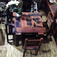 Shen old tea table coffee office furniture living room balcony tables and chairs combination teasideend