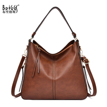 BRIGGS shoulder bag women designer handbag high quality female Hobo bag tote soft pu leather Large crossbody bags ladies sac