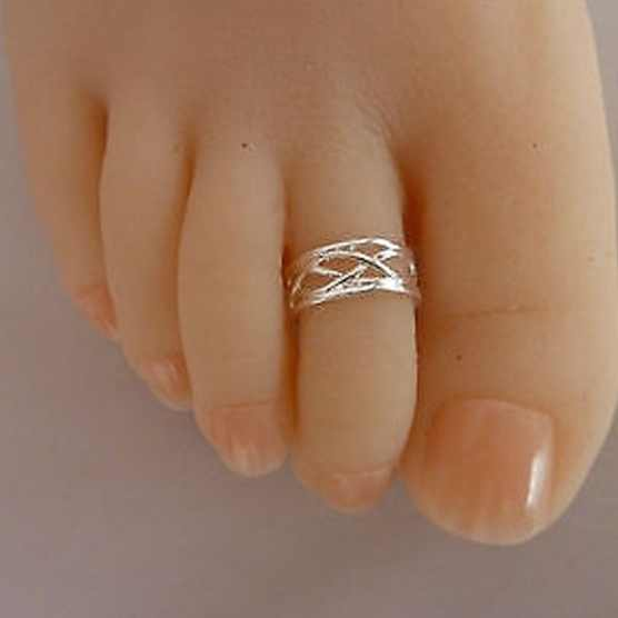 5pcs 925 sterling silver ring foot Contracted distorted hollow out silver ring foot Foot ring opening