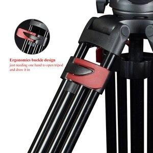 Image 3 - Tripé profissional multifuncional mtt609a, carga de 15 kg, câmera alta potência hidráulica para camcorder/dslr máx. max