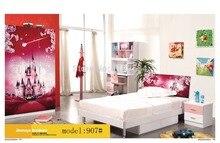 907 Спальня мебель для дома кровать шкаф стол тумбочка вращающееся кресло стоячая вешалка для шляп набор мебели
