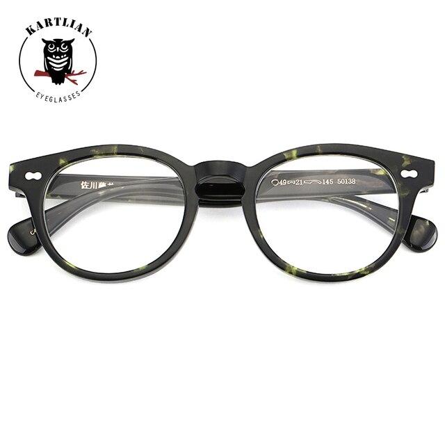 cecc413911 Kartlian acetate retro frame men women glasses optical frame eyewear  eyeglasses lens prescription lenses spectacles