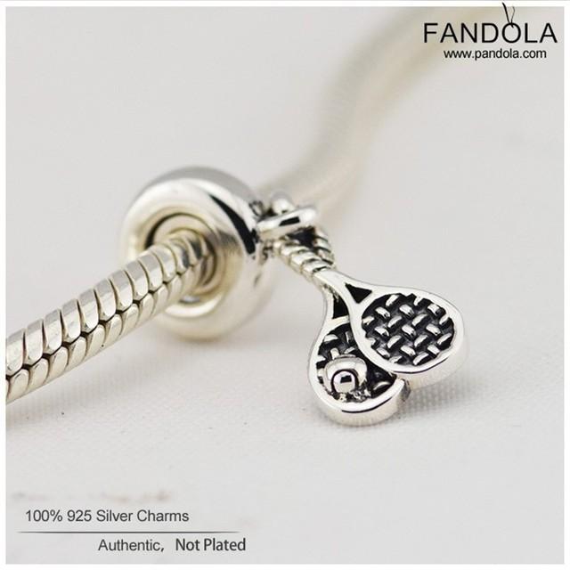 925 encantos da prata esterlina oscila grânulos de tênis para mulheres fits pandora charms pulseira diy fazer jóias