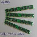 4GB 4X1GB PC2-6400 4X1gb DDR2-800 800Mhz 240pin DIMM Dekstop Memory DDR2 Low Density CL6.0 4G RAM for Intel CPU
