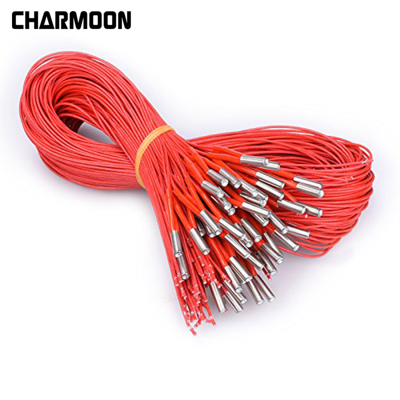 12V 40W Ceramic Cartridge Heater 6mm*20mm Eating Tube Heat 12V40W 1M Extrusion Part For Extruder 3D Printers Parts