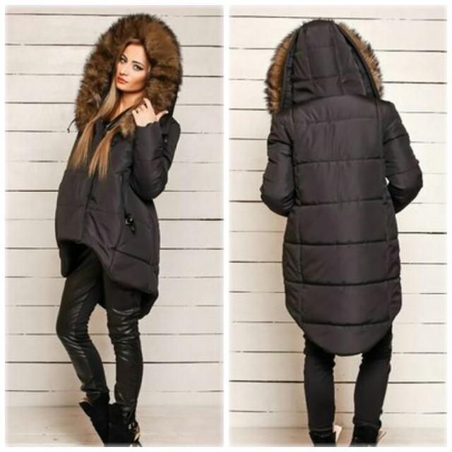 dfe219ecbe1 Nueva moda 2015 para mujer chaquetas de invierno y abrigos largos de la  manga completa con cremallera sombrero bolsillos de cola de milano chaqueta  de ...