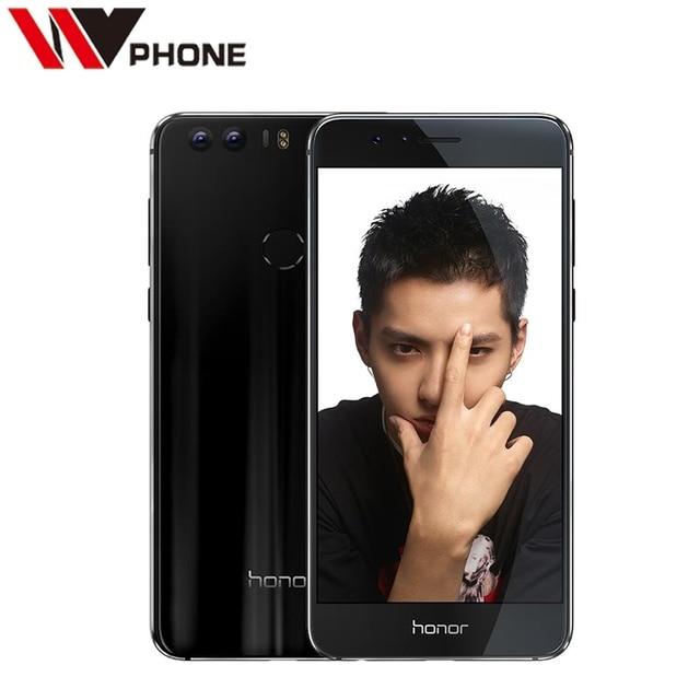 "WV Original Huawei Honor 8 4G LTE Mobile Phone 3G RAM 32G Rom dual camera Octa Core 5.2"" FHD 1920*1080 Fingerprint NFC"