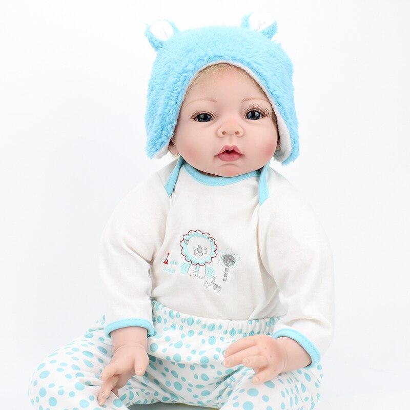 22 NPK baby doll reborn silicone reborn dolls for children girls toys gift bebe bonecas reborn