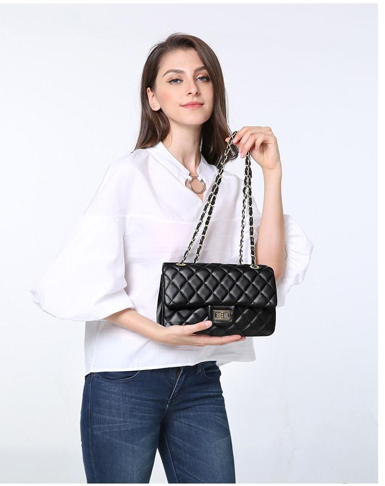 Bolsa feminina challen nova bolsa de corrente