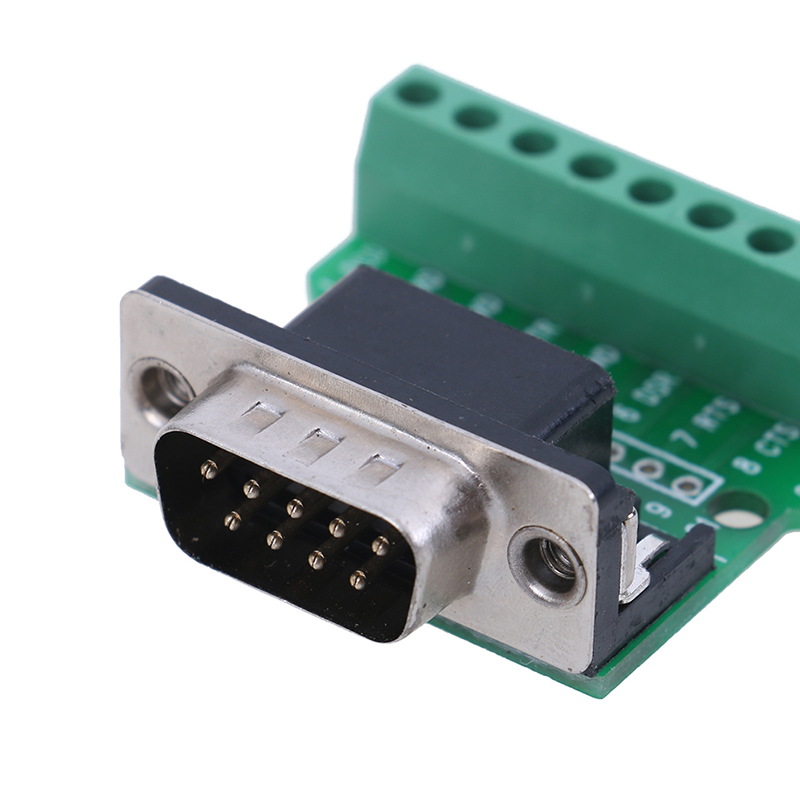 1 шт. D-SUB 9 Pin Solderless соединители DB9 RS232 последовательный к терминальному адаптеру