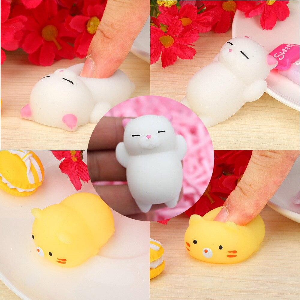 2017 Hot Cute Mochi Squishy Cat Squeeze Healing Fun Kids Kawaii Toy Stress Reliever Decor To Kids Tops Drop Shipping Aug15