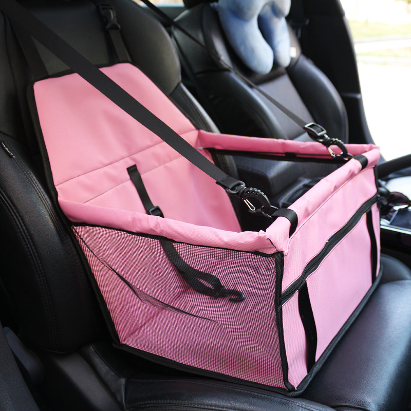 Dog Car Seat Cover Folding Pet  Cat  Bag Carriers Pet Carrier Safety Mesh  Protector Dog Mat Blanket Car Carriers For Pet