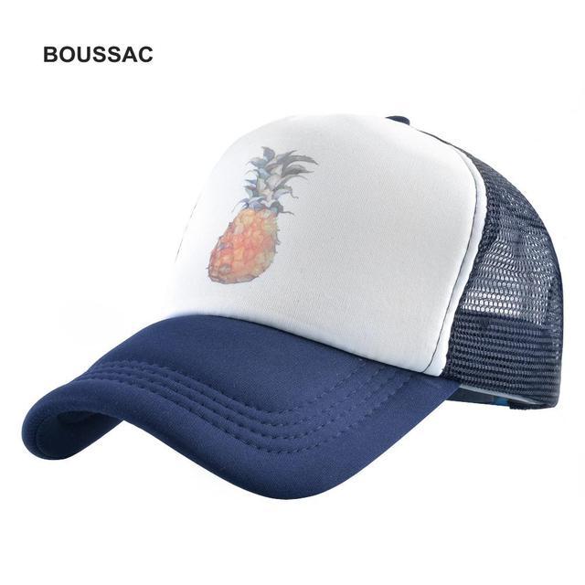 2018 New Aloha Pineapple Print Baseball Cap Trucker Hat For Women Men  Unisex Mesh Adjustable Size Snapback Hip Hop Caps KDBH25 a832c73f8706