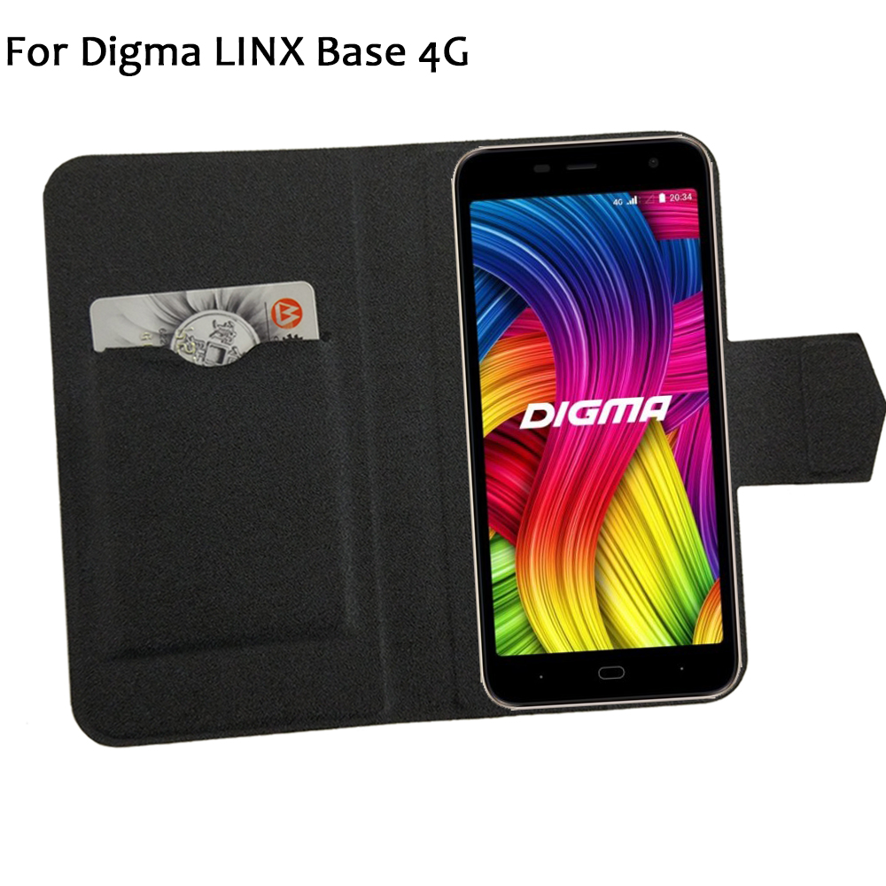 5 Colors Hot! Digma LINX Base 4G Case Phone Leather Cover,Factory Price Protective Full Flip Stand Leather Phone Shell Cases