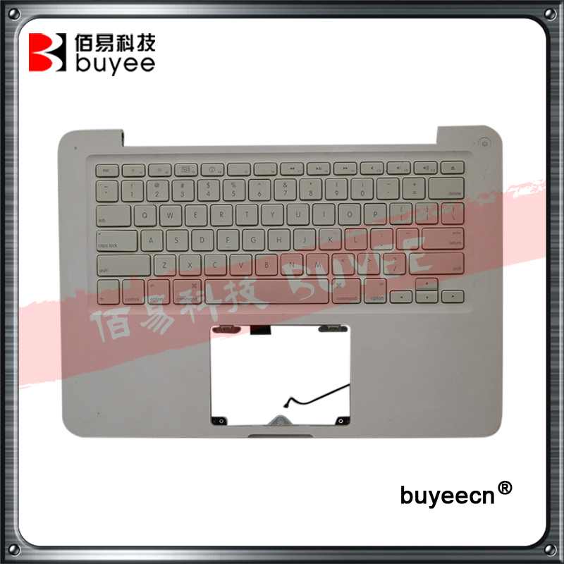 Original White A1342 Top Case For Macbook Unibody 13 A1342 Palmrest Palm Rest Topcase With US
