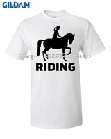 GILDAN Casual T Shirt 2017 Funny Hip Hop Printed Funny Horse Riding Funny T Shirt For