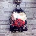 ZEITLIN 2016 Rosas novas Mulheres Mochilas Dos Desenhos Animados saco de ombro de Couro Mochila Design de Moda Popular no feminino inverno 1052