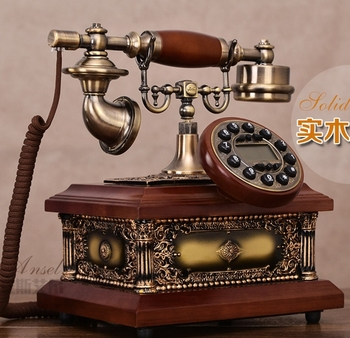 Moda antyczny telefon amerykańska moda vintage domu telefon stacjonarny tanie i dobre opinie BINYEAE Przewodowe antique  antediluvian technology